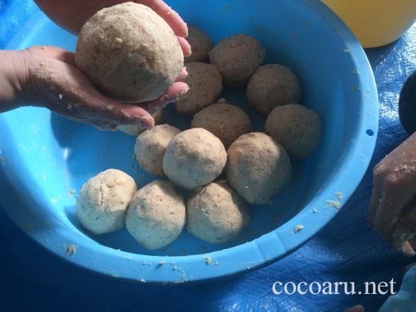 味噌の作り方・味噌玉を作る