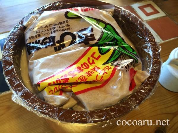 味噌の作り方・砂糖で重し