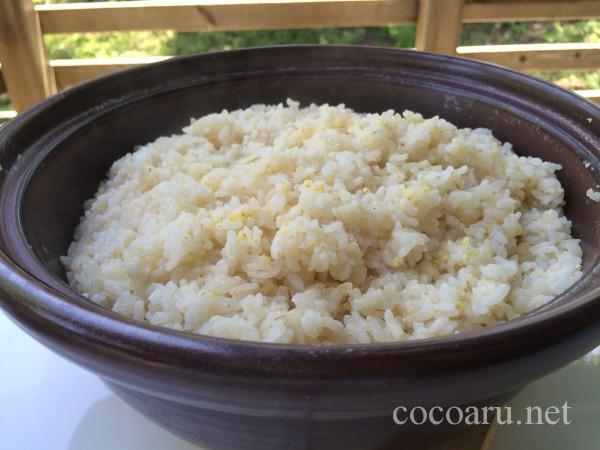 土鍋で炊いたご飯(雑穀入り)