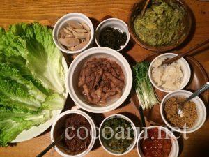発酵レタス包みご飯の具