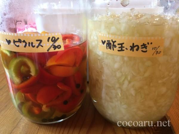 酢玉ねぎ&ピクルス