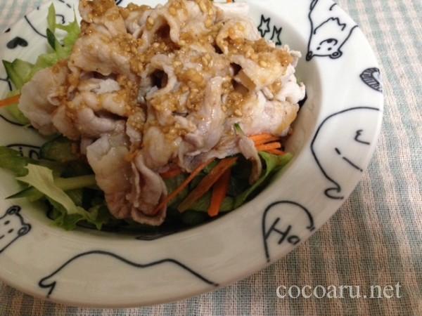 しゃぶしゃぶサラダ~ゴマ風味の塩麹ドレッシング