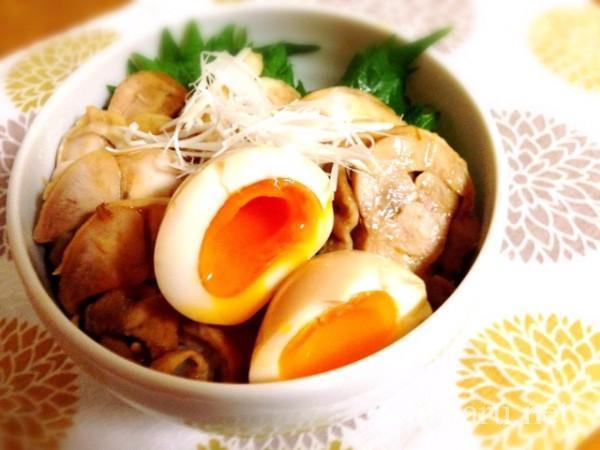 昆布酢の鶏チャーシュー丼
