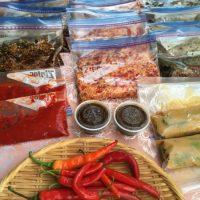 赤と青の唐辛子で作る発酵調味料教室へ!いっきに5種類完成!?