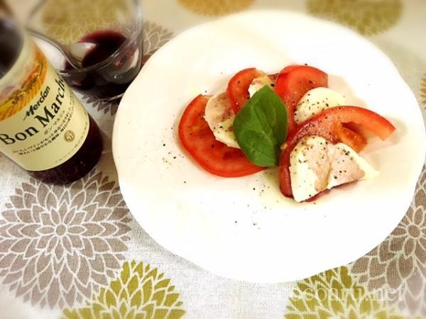 カプレーゼ バルサミコ酢 赤ワイン&お酢&砂糖で代用