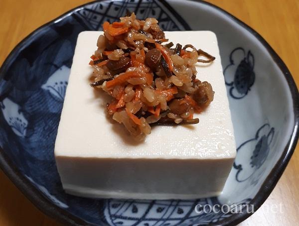 麹納豆 豆腐のせ