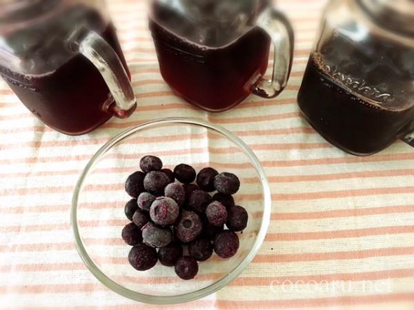 ブルーベリー酢3種