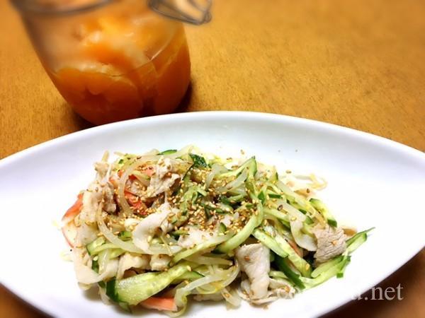 豚ともやしのみかん酢サラダ