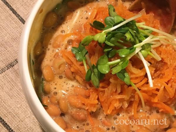 柿酢のレシピ:柿酢納豆