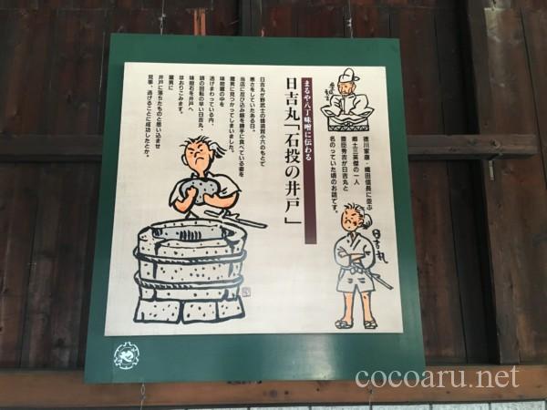 (秀吉の日吉丸時代・石投げの井戸解説)