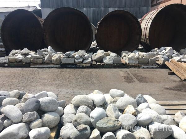 まるや八丁味噌 工場見学(乾燥中の石たち)