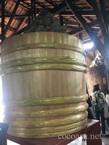 カクキュー八丁味噌 工場見学(新しい桶)
