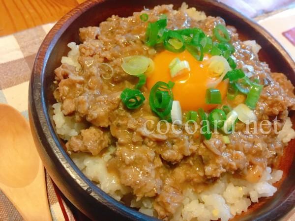 発酵玉ねぎ肉味噌の作り方(卵黄を乗せて肉味噌丼)