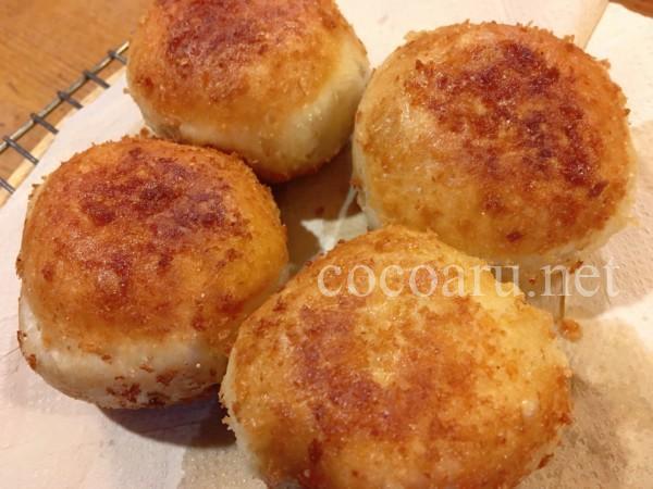 酒粕パン:ホームベーカリーでパン生地(カレーパン)