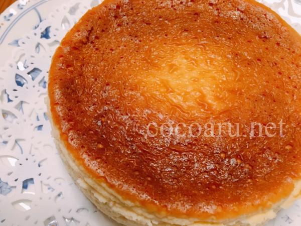 塩麹ベイクドチーズケーキ(型から外したところ)